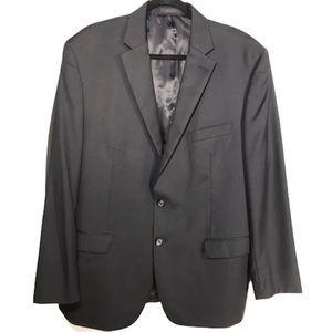 Lauren Ralph Lauren Charcoal Gray Wool Silk Blazer